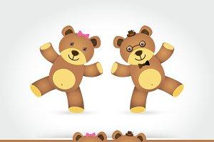 couple teddy bea