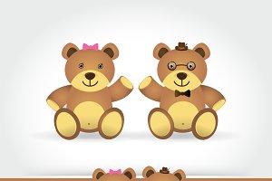 couple teddy bear doll