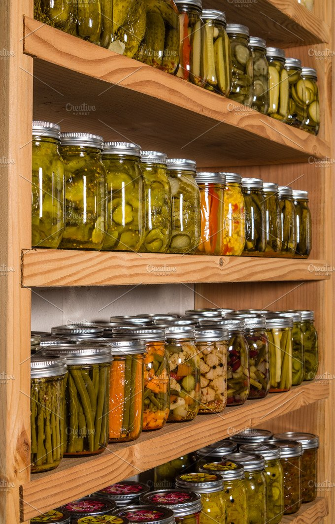 Pickles Canned On Pantry Shelf Food Amp Drink Photos