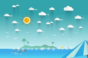 Idyllic paradise coast landscape
