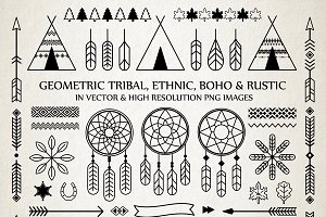 Geometric Tribal Rustic Boho Pack