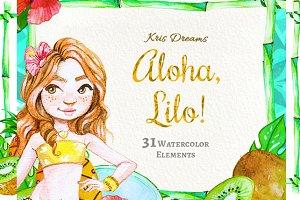 Aloha Lilo Clipart Set
