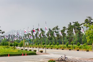 National Flag Street at National Cemetery, Daejeon, South Korea, 25 may 2016