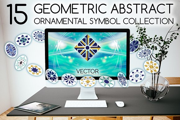 15 Geometric Ornamental Symbols