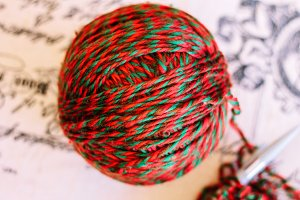 wool yarn skein