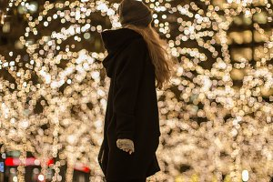 Christmas girl lights