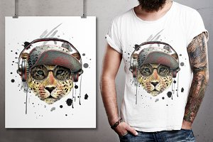 Leopard illustration/T-shirt graphic