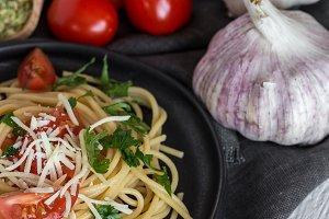 Spaguetti with tomato