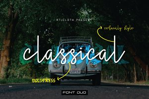 Classical - Font Duo (30% off)