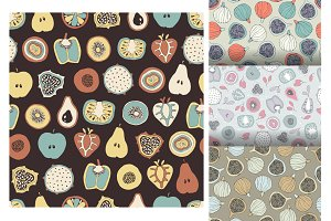 4 fruits seamless pattern