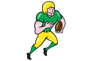 American Football Receiver Running B