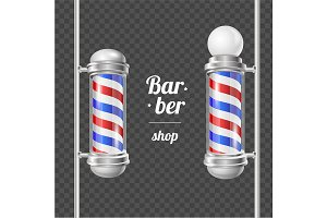 Barber Shop Pole. Vector