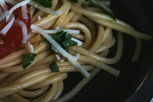 Spaguetti with tomato
