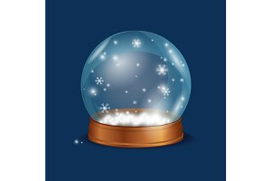 Crystall Ball Snow. Vector