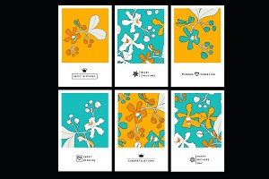 Floral set card with orchids