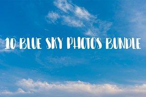 10 BLUE SKY PHOTOS BUNDLE