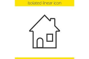House linear icon. Vector