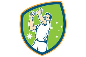 Cricket Fast Bowler Bowling Ball Shi