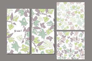 Bindweed pattern + 2 cards