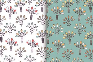 Kids floral 2 seamless pattern