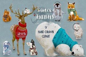 9 cute winter animals