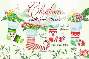 Christmas Socks and Boxes