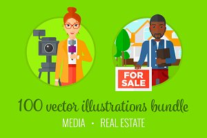 Media & Real Estate illustrations.