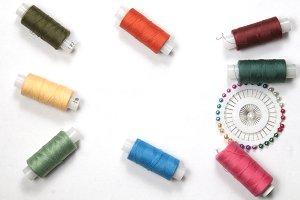 Sewing thread frame