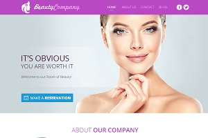 Beauty Web Design Template