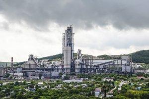 Big cement factory. Nizhnebakansky cement plant