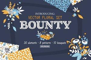 Bounty - vector floral set