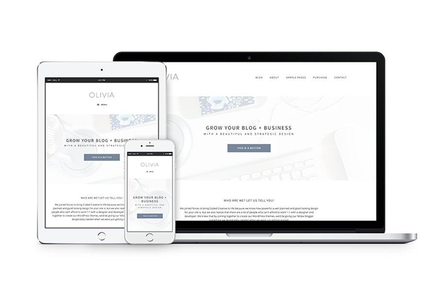 Olivia - Blog + eCommerce Theme