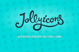 Jolly Icons — 400 hand-drawn icons
