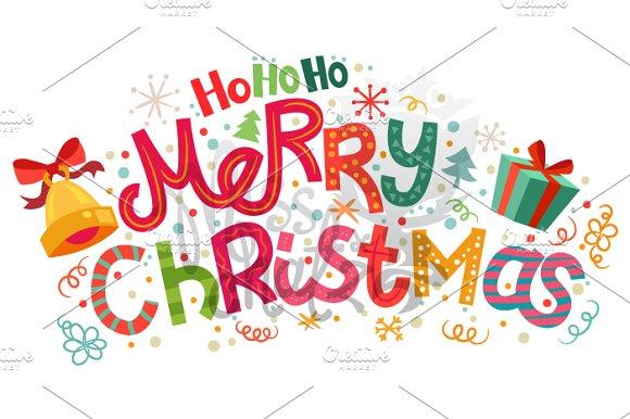 ho ho ho merry christmas illustrations - Hohoho Merry Christmas