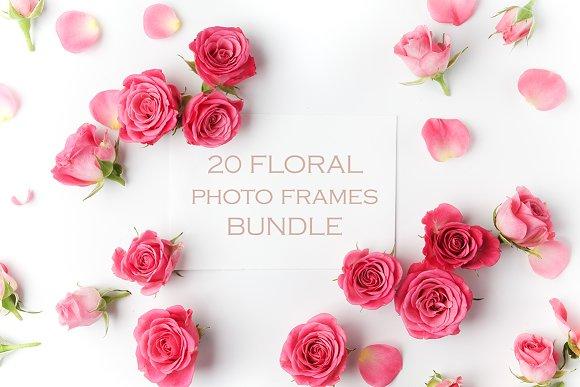 20 Floral frames bundle ~ Product Mockups ~ Creative Market