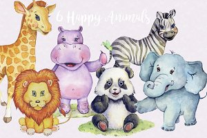 Happy Animals Clipart Images