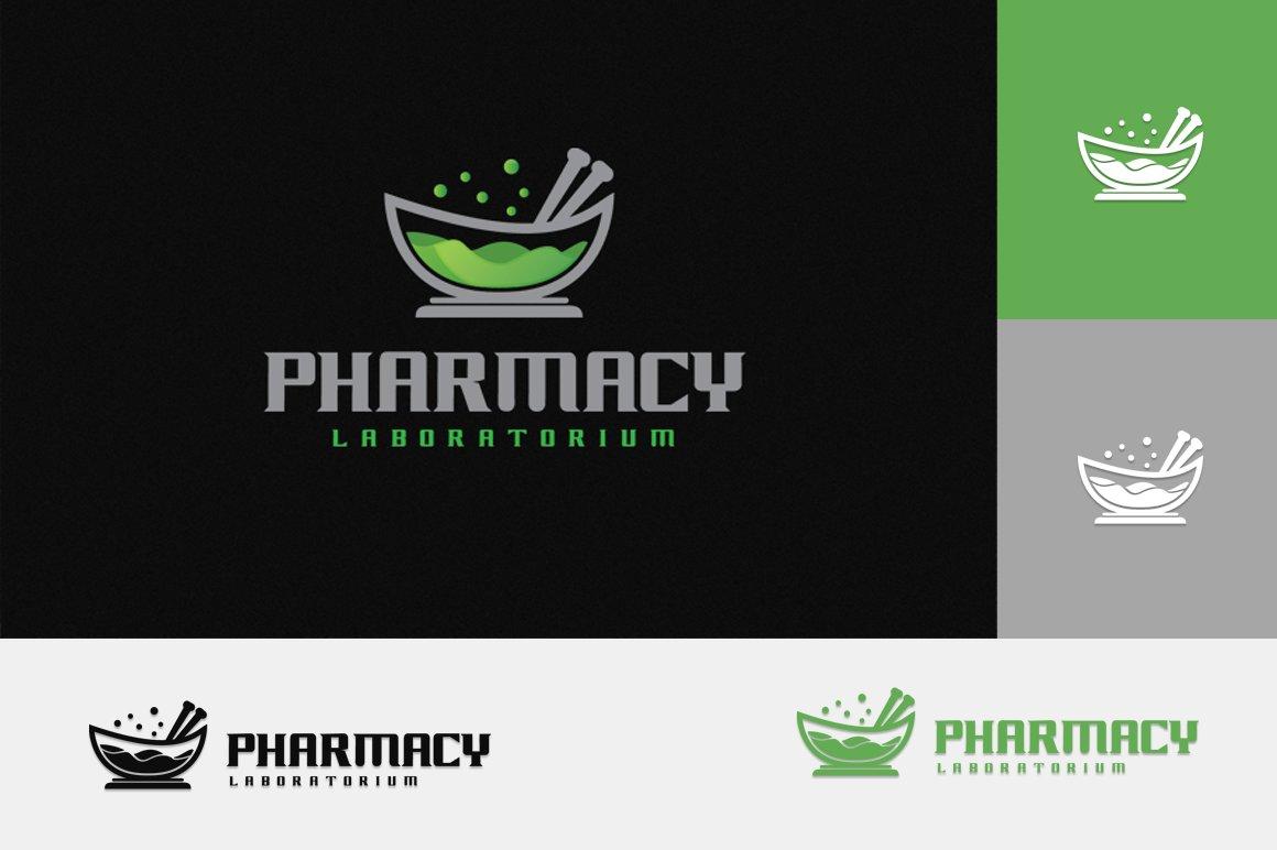 Pharmacy Lab Logo Logo Templates Creative Market