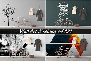 Wall Mockup - Sticker Mockup Vol 221