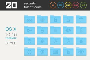 Security Folder Icons Set 1