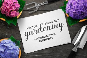 SALE! Gardening Icons & Infographics