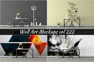 Wall Mockup - Sticker Mockup Vol 222