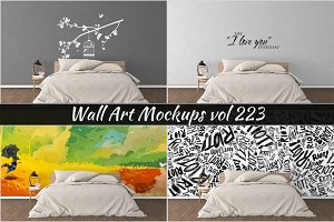 Wall Mockup - Sticker Mockup Vol 223