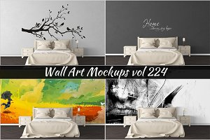 Wall Mockup - Sticker Mockup Vol 224