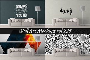 Wall Mockup - Sticker Mockup Vol 225