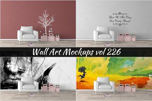 Wall Mockup - Sticker Mockup Vol 226