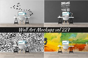Wall Mockup - Sticker Mockup Vol 227