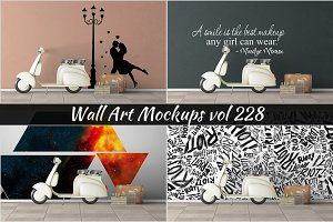 Wall Mockup - Sticker Mockup Vol 228