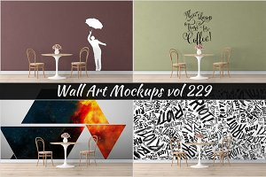 Wall Mockup - Sticker Mockup Vol 229