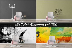 Wall Mockup - Sticker Mockup Vol 230
