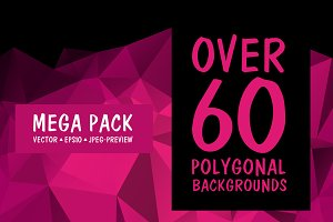 Over 60 Polygonal Background